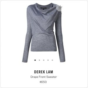 NWOT Derek Lam silk & cashmere sweater.